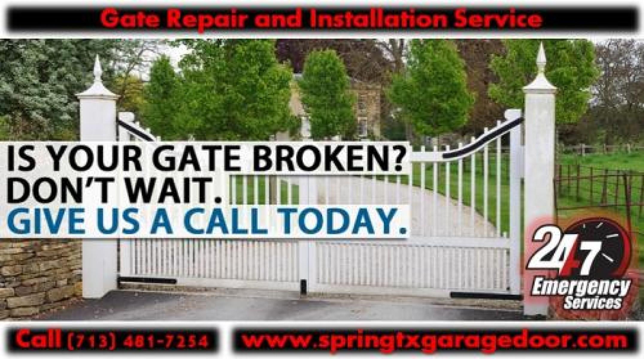 24X7 Garage Door Repair & Commercial Roll Up Gate Repair Spring, Houston